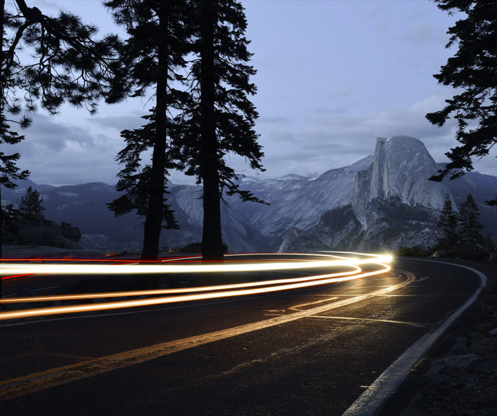Light Trails at Glacier Point